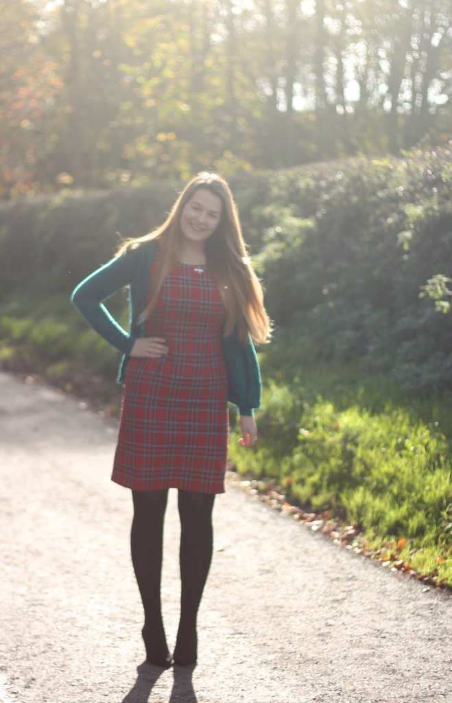 Great British Sewing Bee tartan shift dress