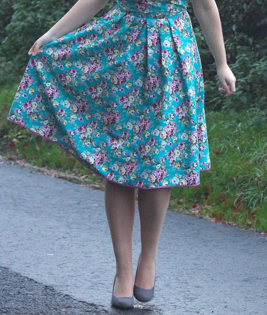 Simplicity 4070 floral dress