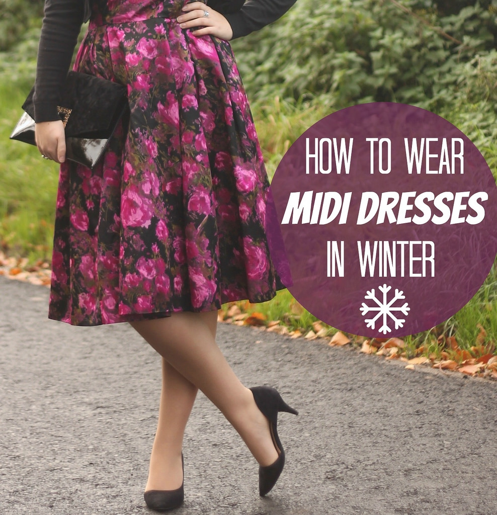 How to wear midi dresses in winter