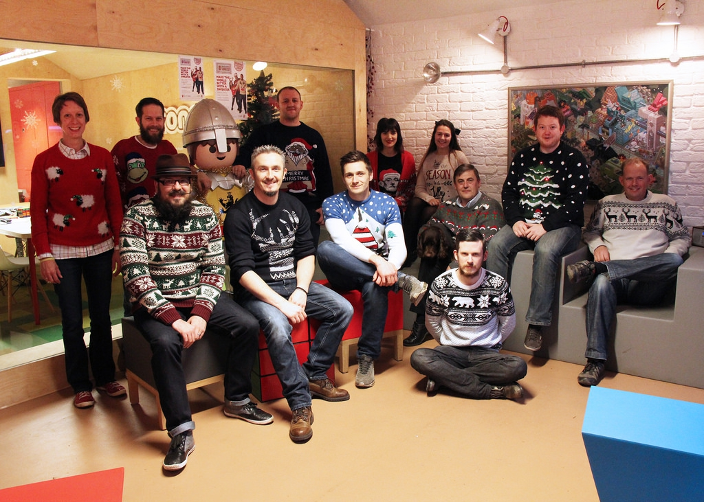 Christmas Jumper Day with tartan