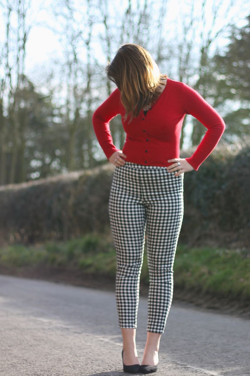 Checked trousers outfit