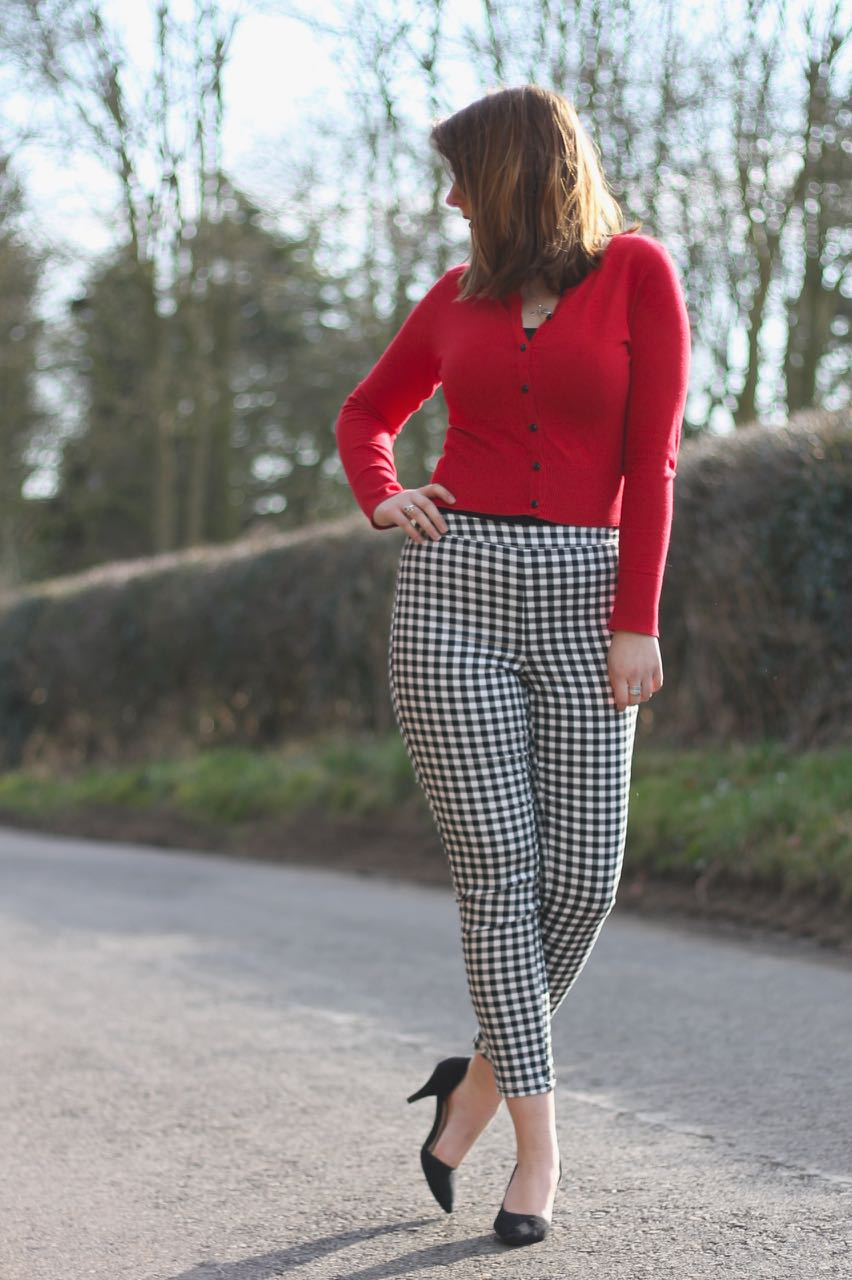 Check capri trousers from Dorothy Perkins