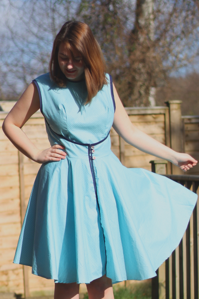 Great British Sewing Bee Walkaway Dress with bias binding