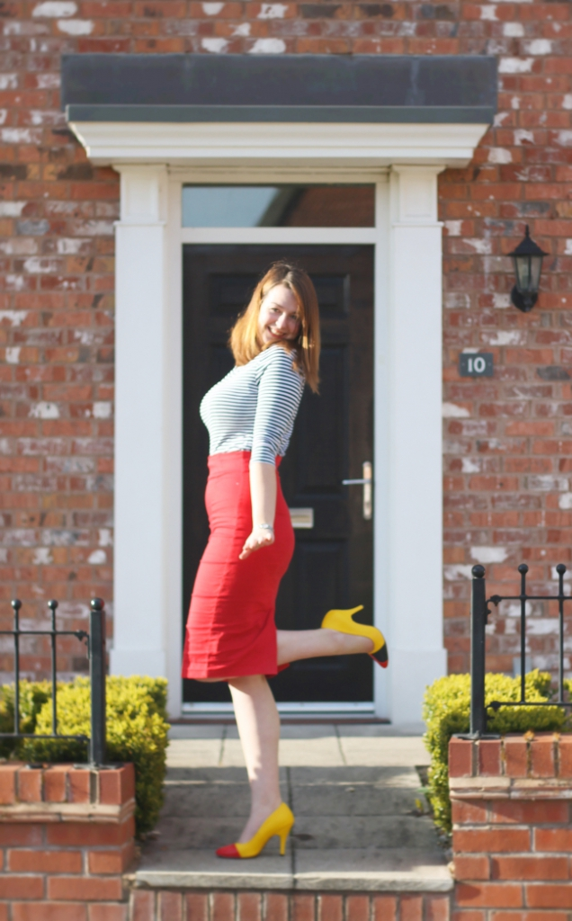 Collectif outfit pencil skirt