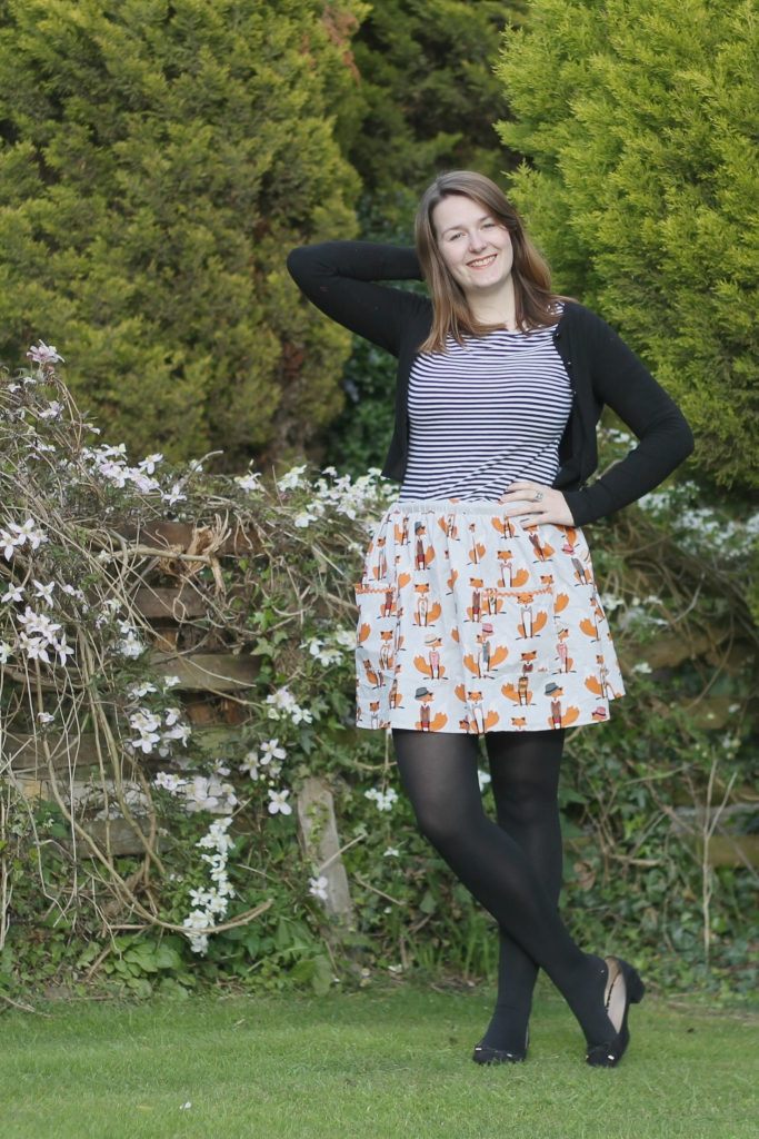 fox skirt simplicity blogger challenge