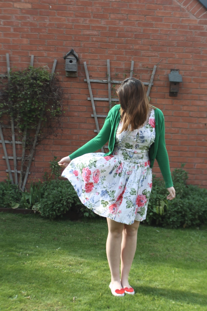 vintage dress with hell bunny cardigan