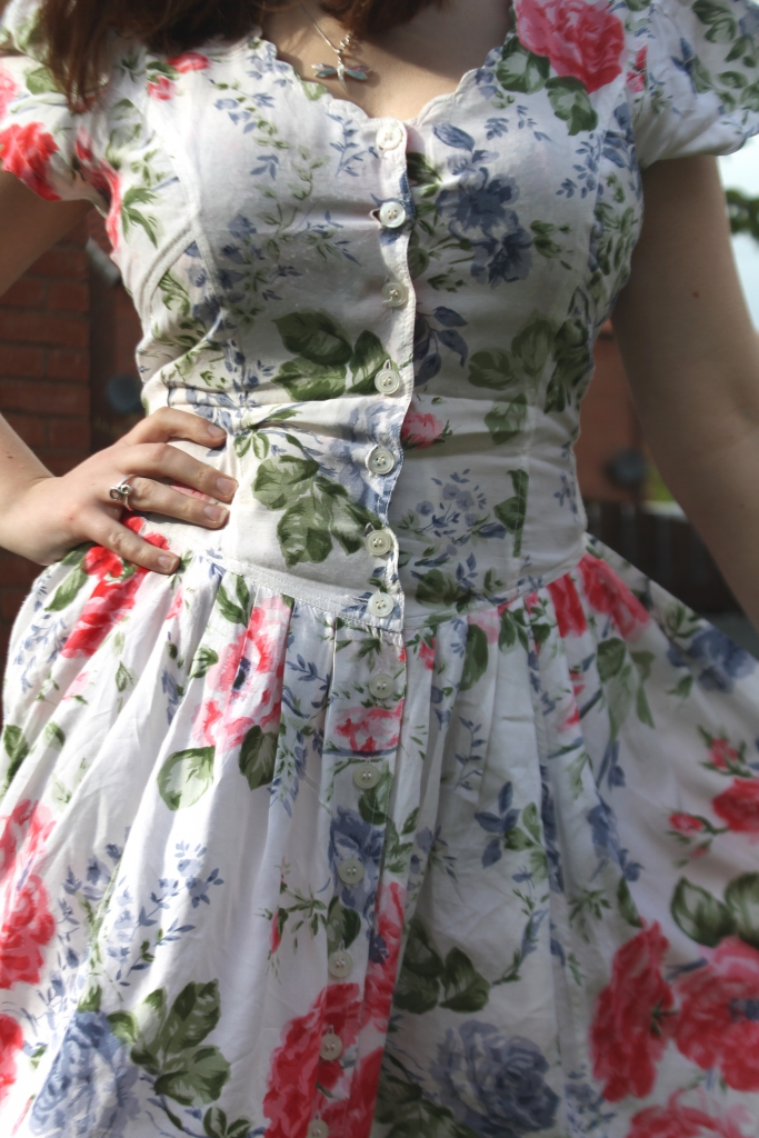 vintage dress close up