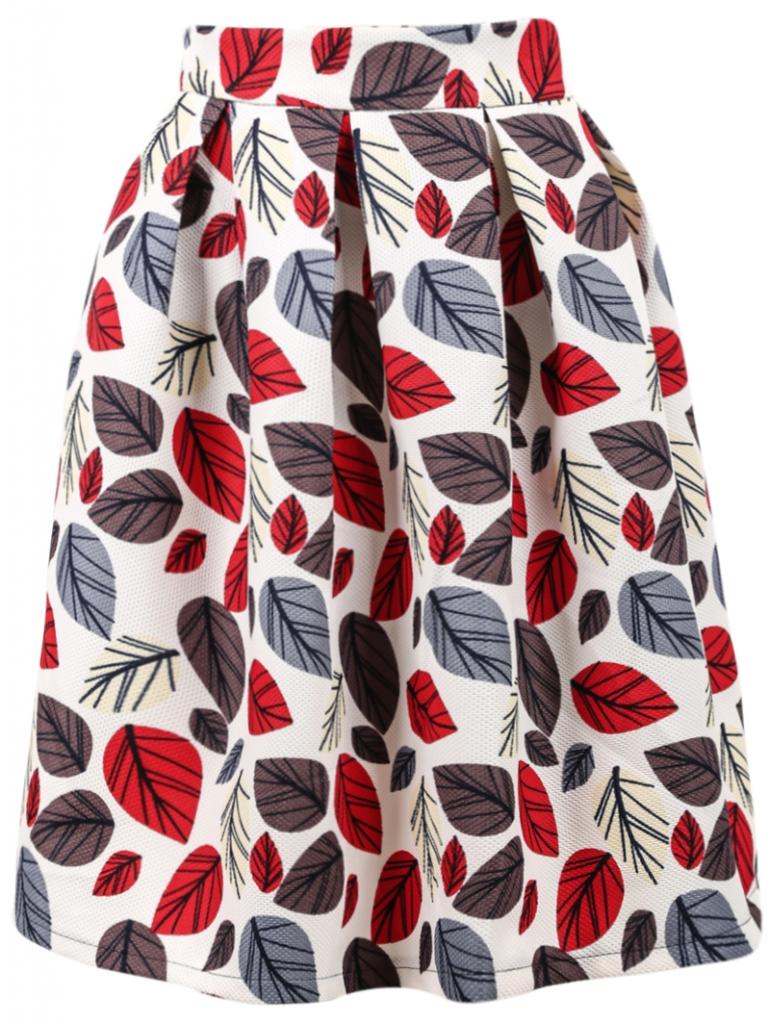 romwe leaves skirt