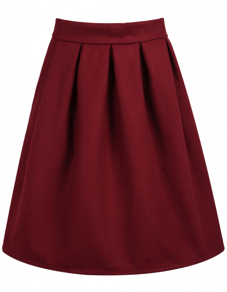 SheIn Red Skirt
