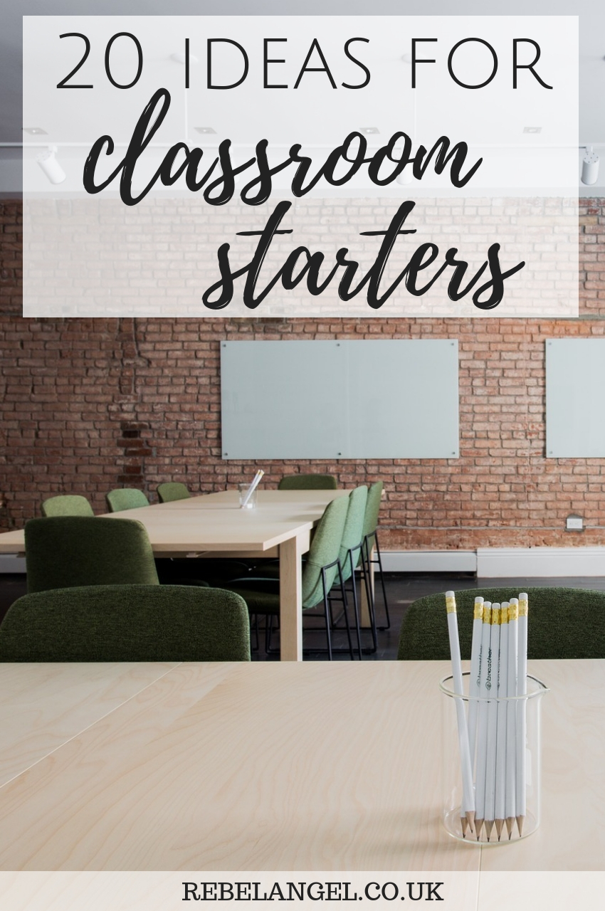 20 ideas for classroom starters & plenaries