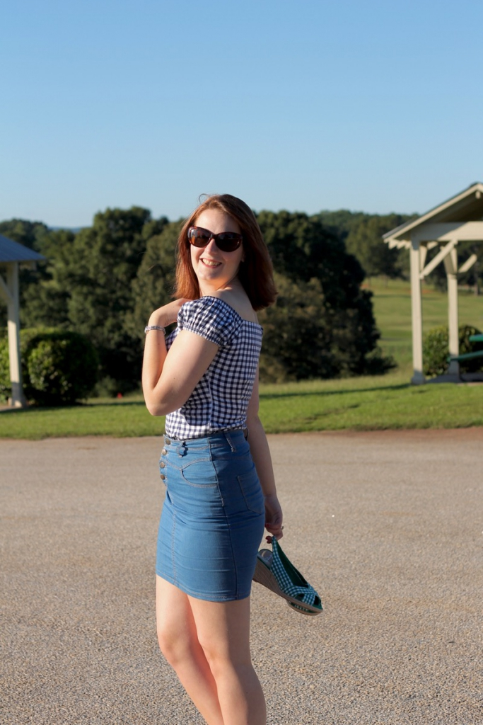 Collectif gingham top outfit