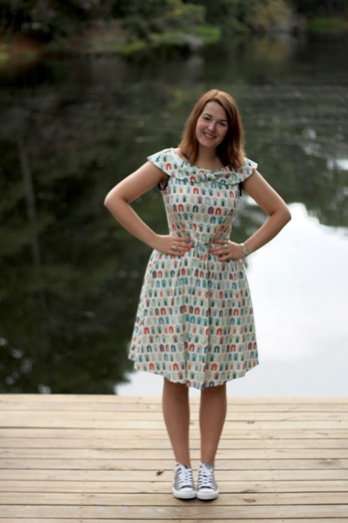 simplicity 2444 dress with converse