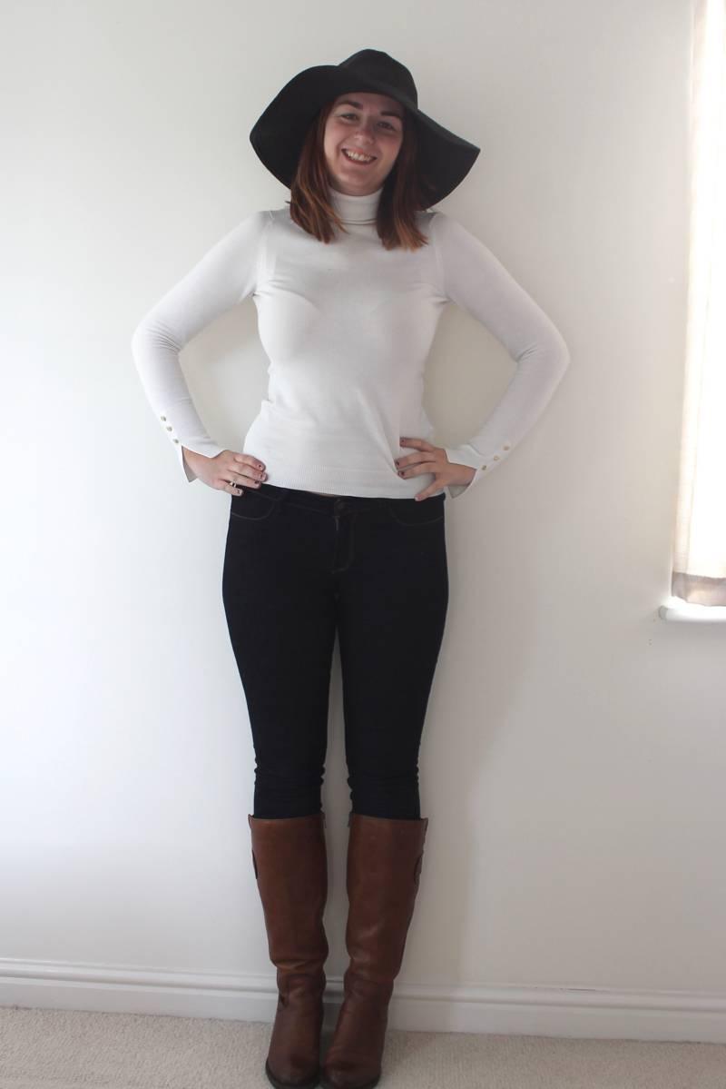 zara jumper outfit