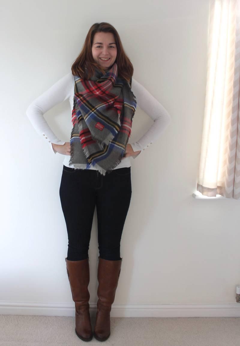 ways to wear a blanket scarf