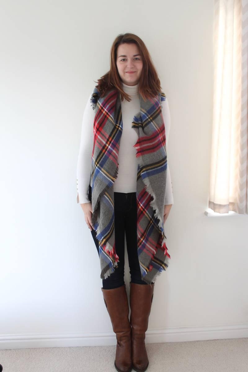 long draped scarf