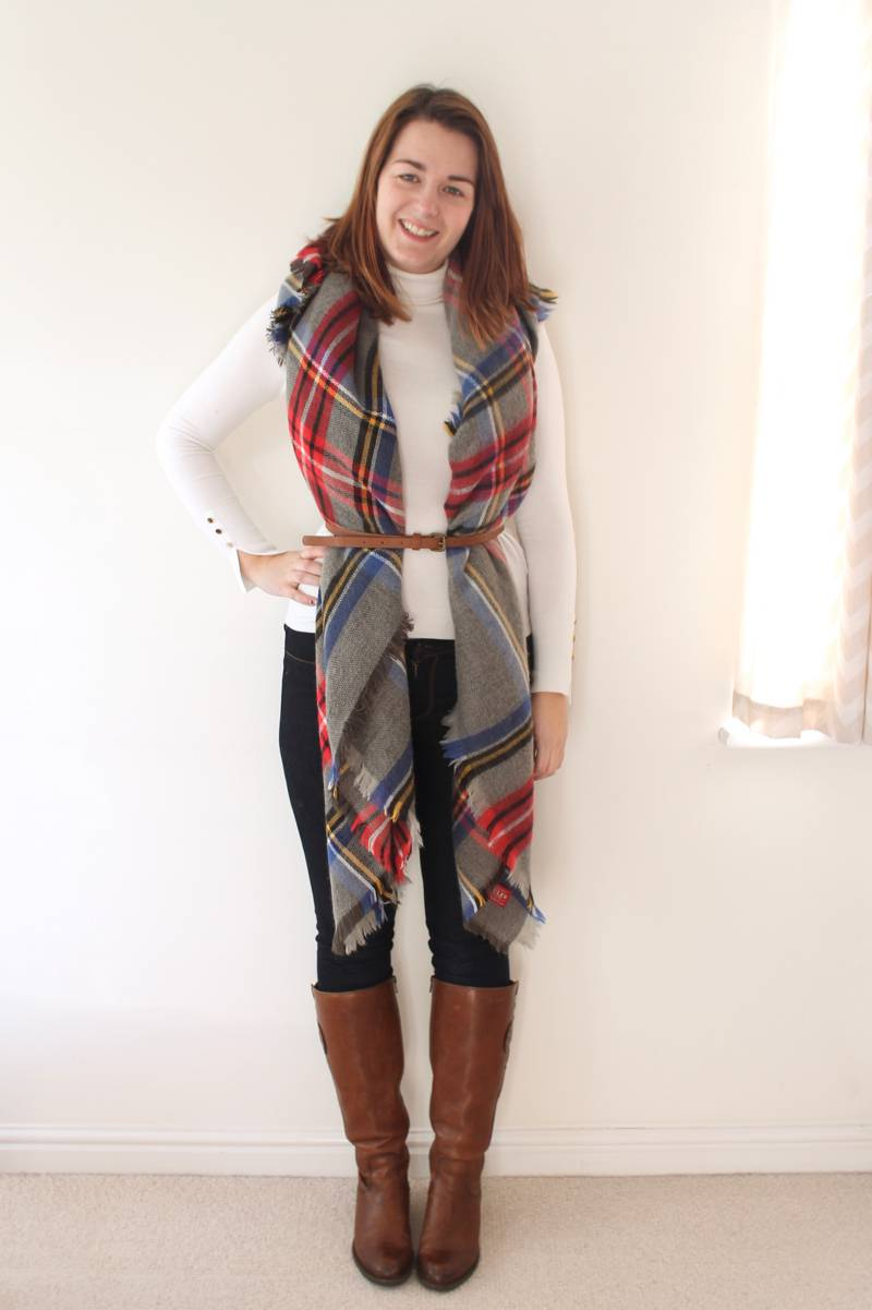 draped & belted scarf