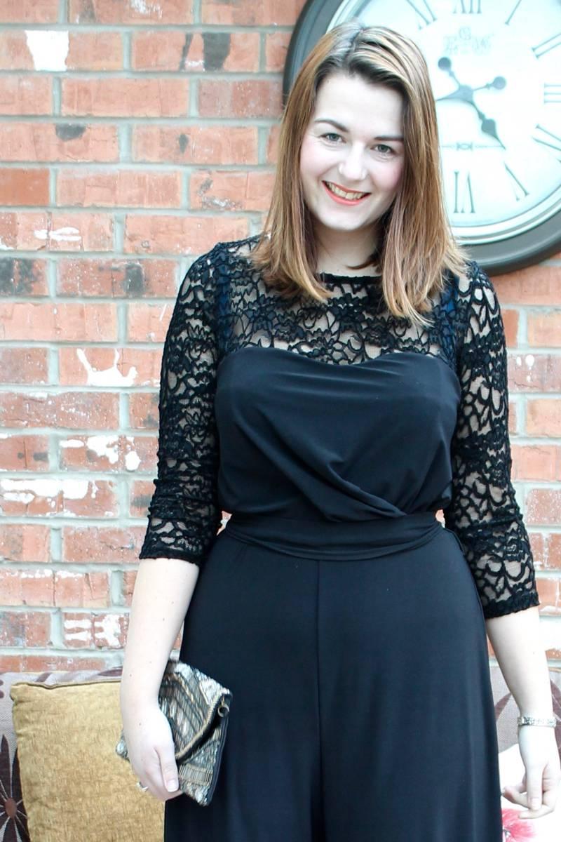 Lace black jumpsuit outfit