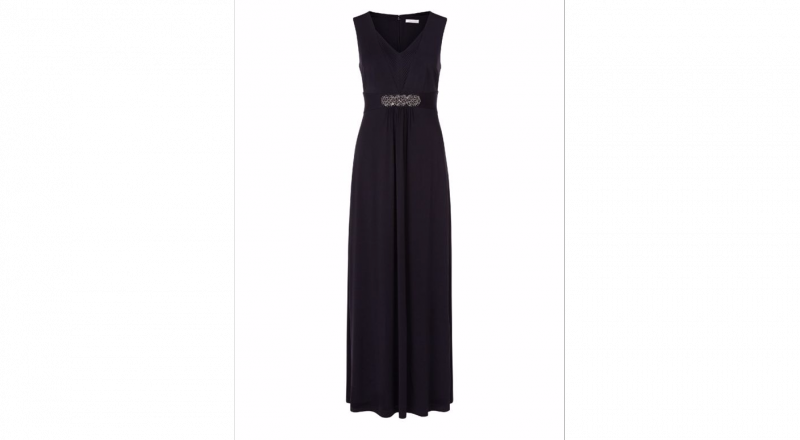 Black Bond girl maxi dress