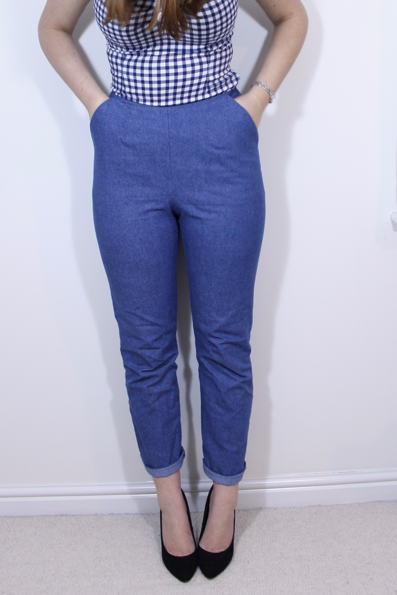 Gertie Sews Vintage Casual jeans review