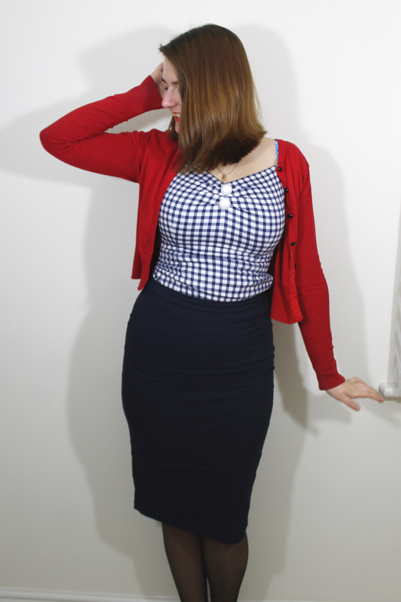 Collectif Dolores top, pencil skirt pin up outfit