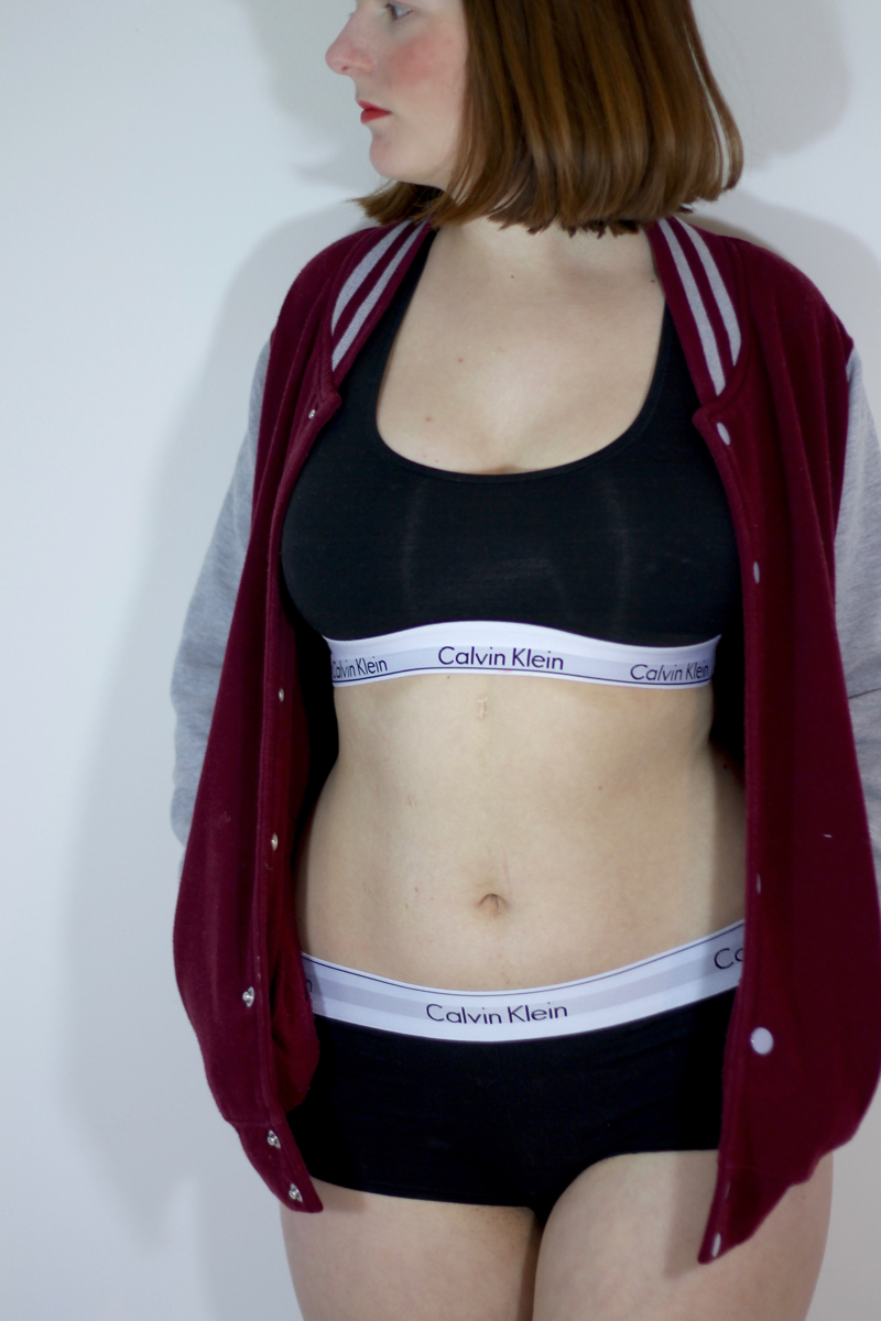 Calvin Klein crop top and briefs