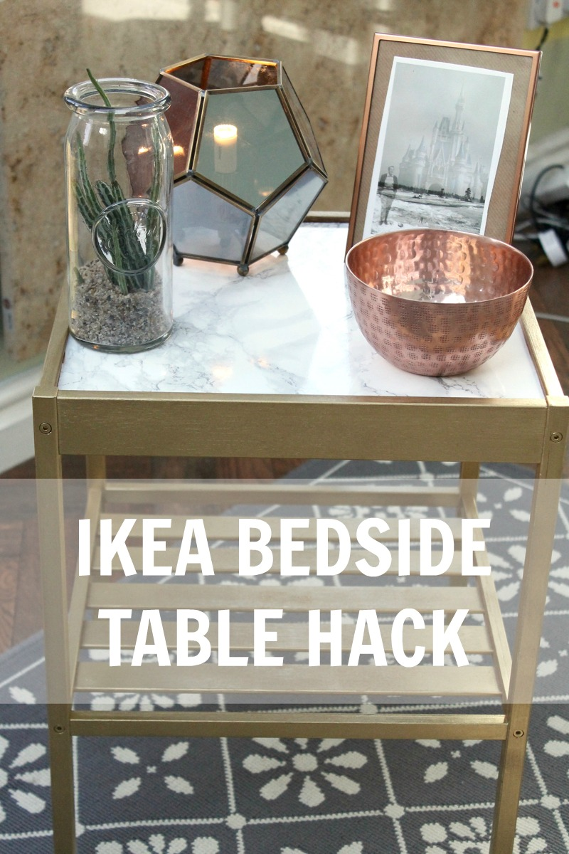 Diy Ikea Bedside Table Hack Gold Marble Rebel Angel