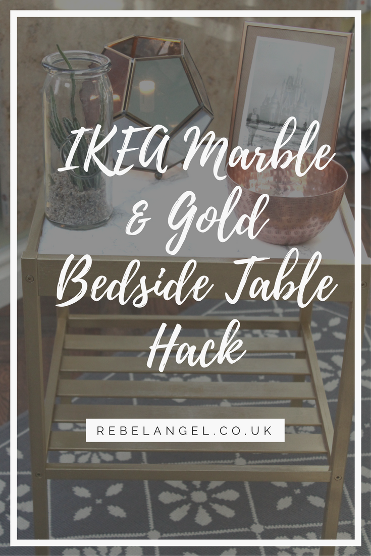 IKEA Marble & Gold bedside table hack