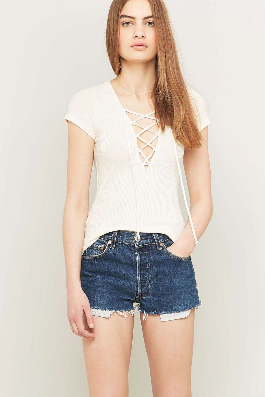 Lace Up Top - Urban Outfitters