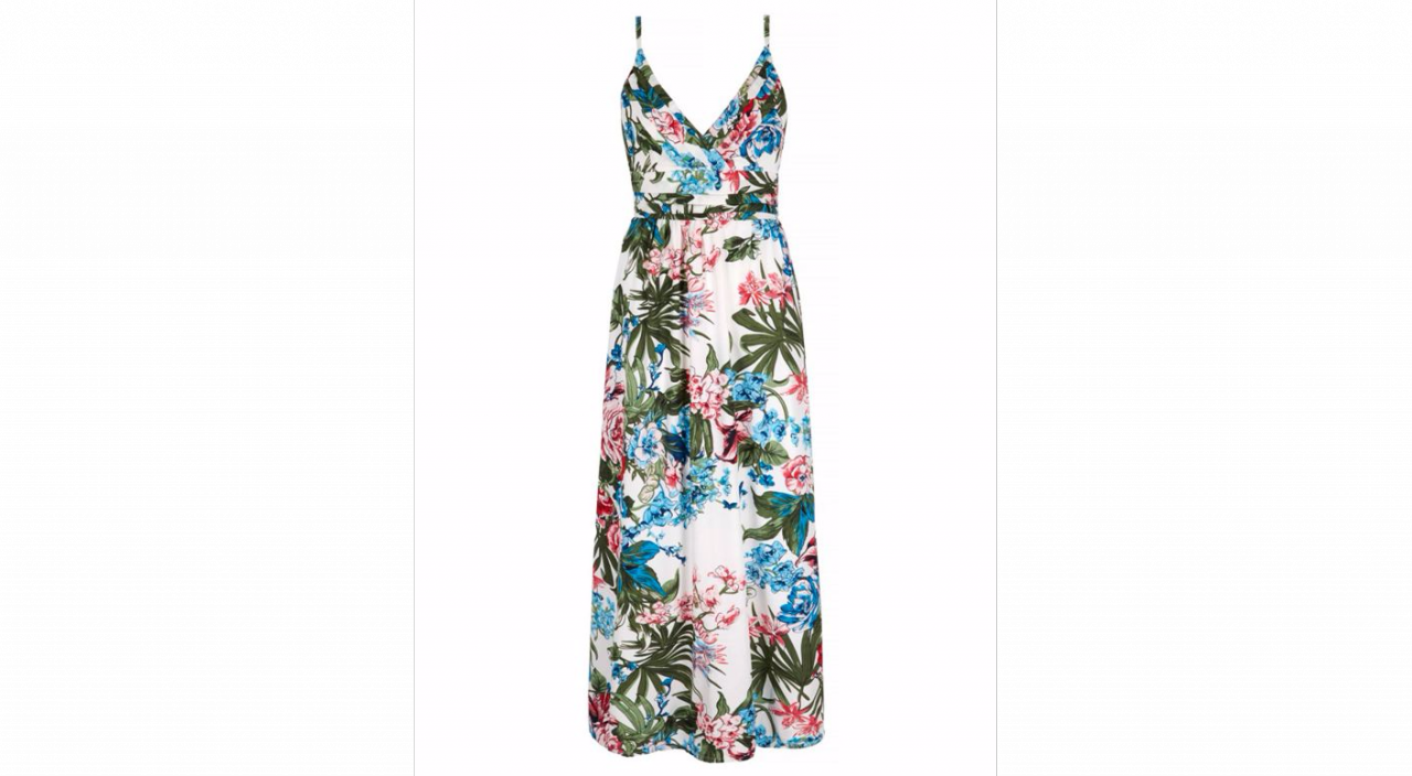 Yumi Tropical Palm Maxi Dress - House of Fraser