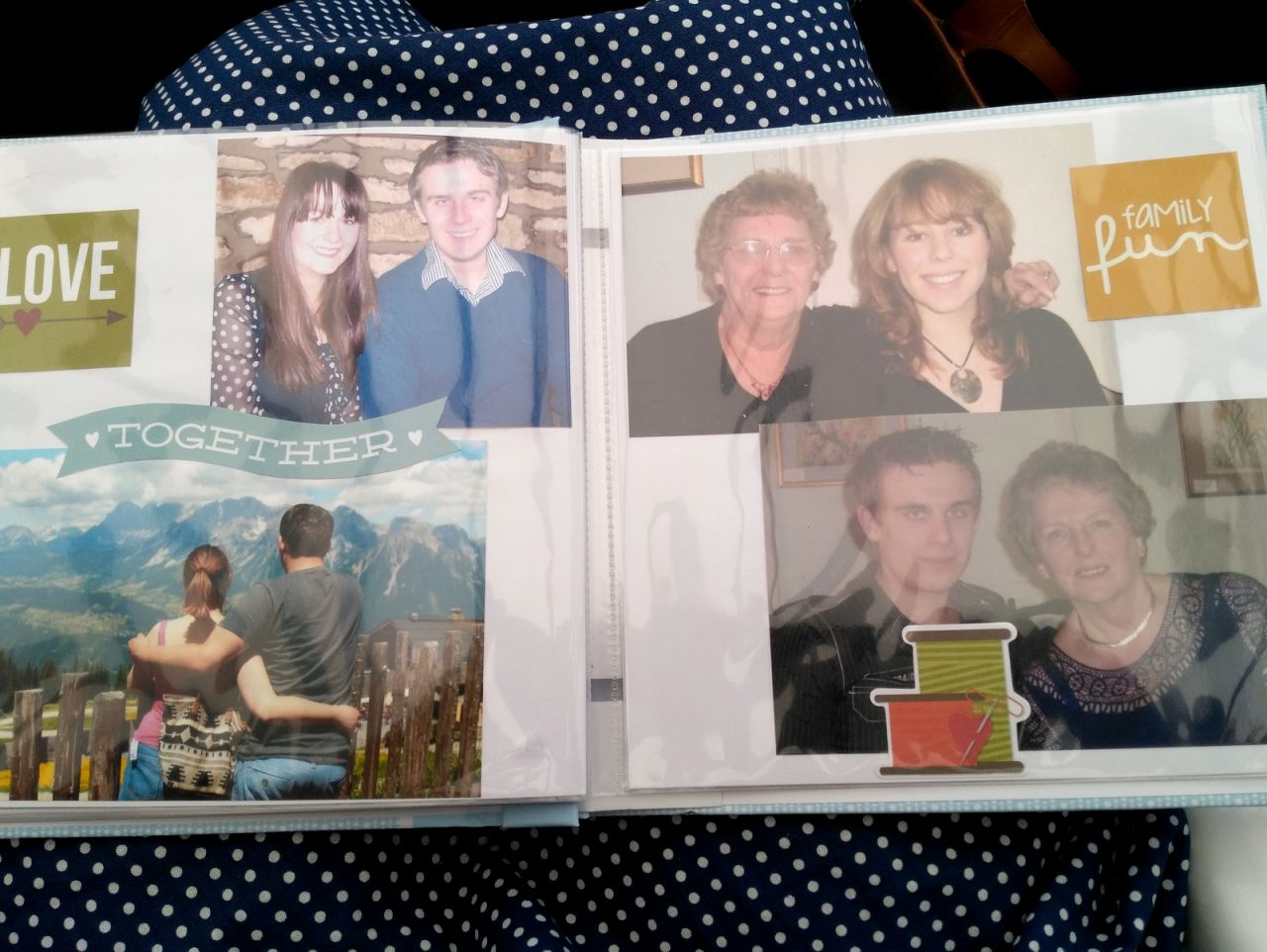 80th birthday present scrapbook album