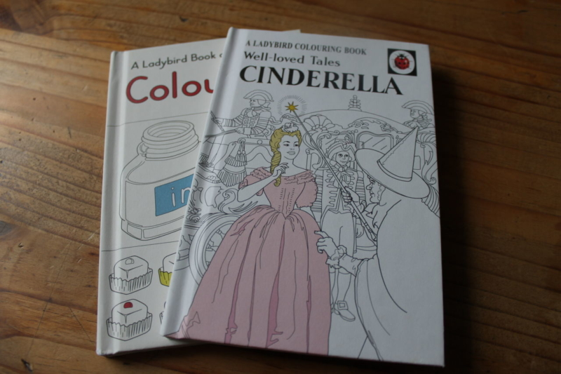 Cinderella colouring book