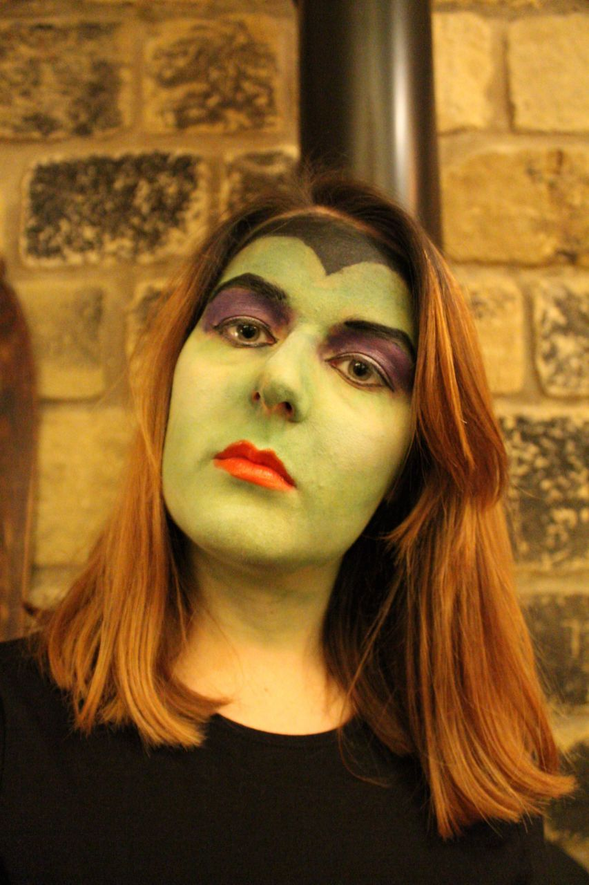 Halloween make up Maleficent Wicked 2016