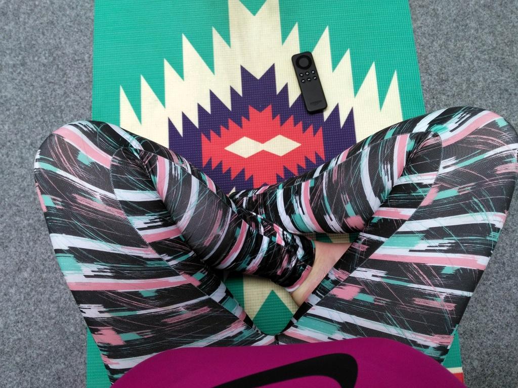 Yoga mat & Lidl yoga leggings