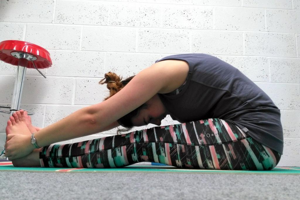 Yoga mat & Lidl yoga leggings, Bam bamboo top