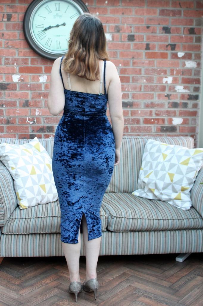 Missguided Christmas party dress - velvet slip dress