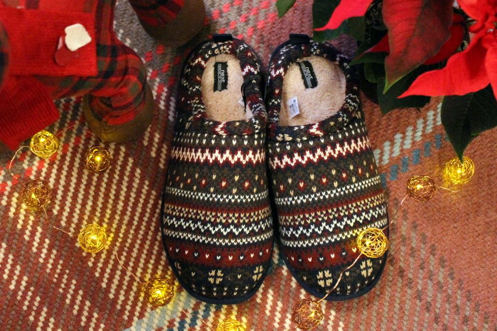 Christmas gift guide - men's slippers Next