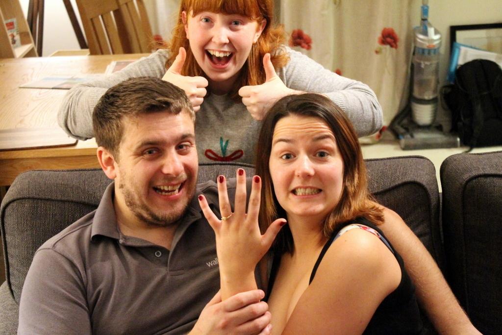 Raw Diamond Engagement Ring Proposal