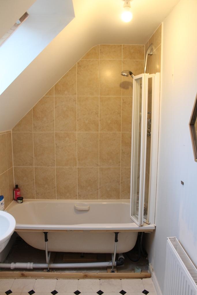 En Suite attic bathroom update before