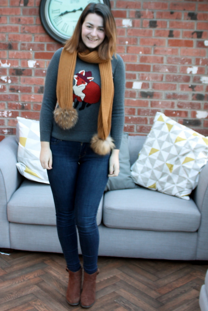 January Style Challenge - Fox jumper, scarf & jeans