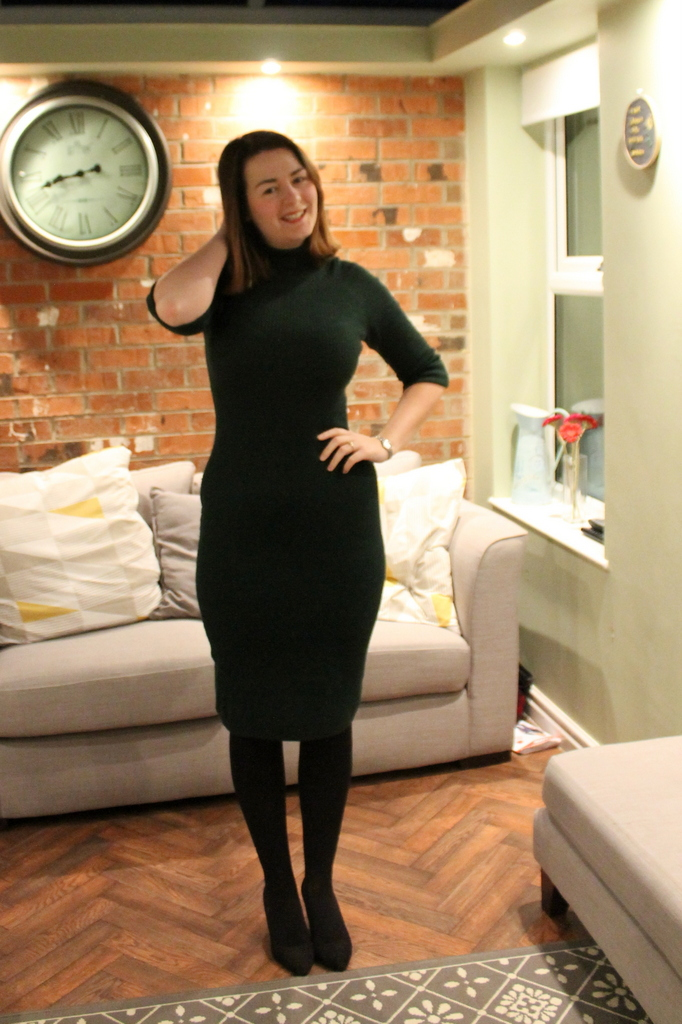 Green Collectif Knitted Dress outfit