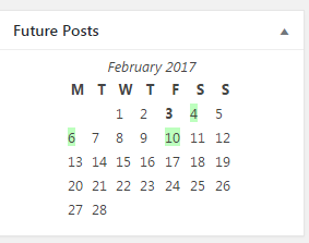 Future Posts WordPress plug in