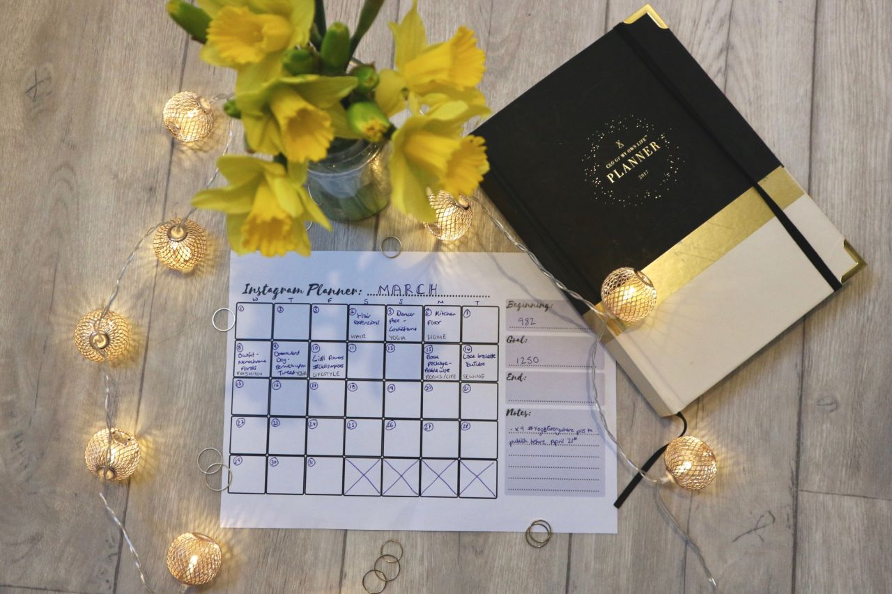 Free Instagram Planner - Downloadable Instagram Calendar