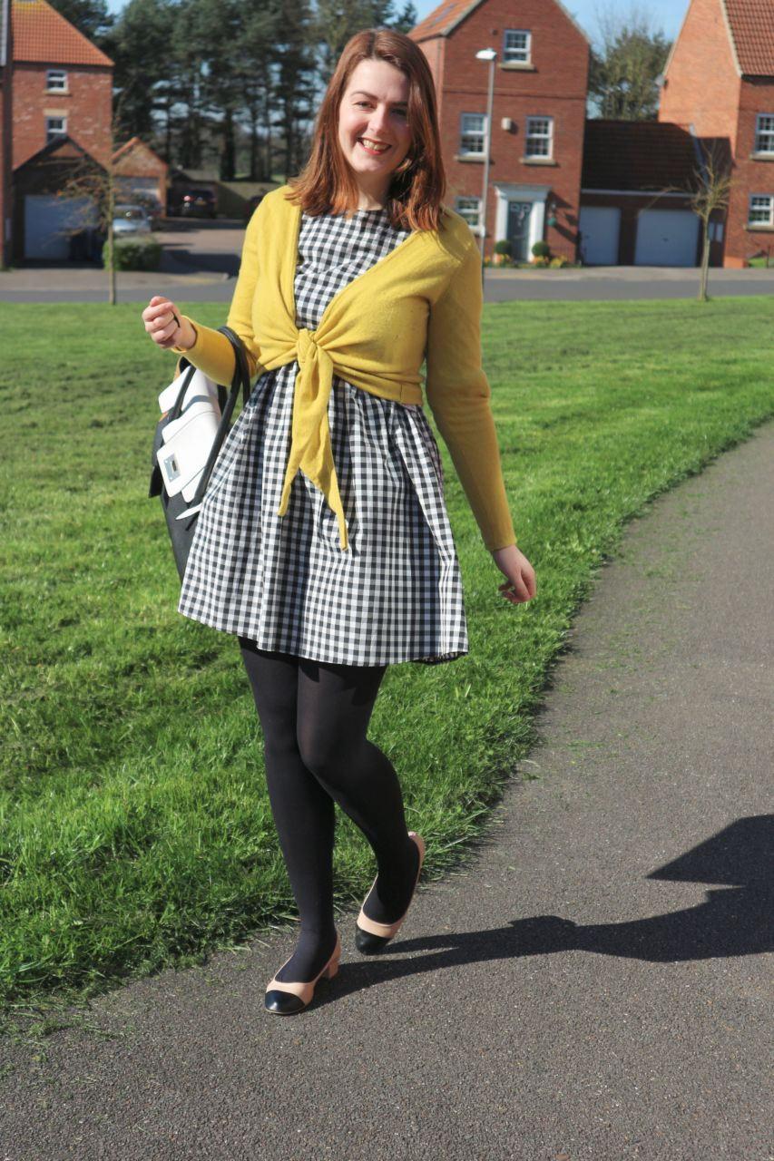 Primark Oversized Check Dress outfit