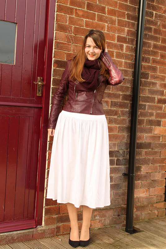 leather jacket maxi skirt
