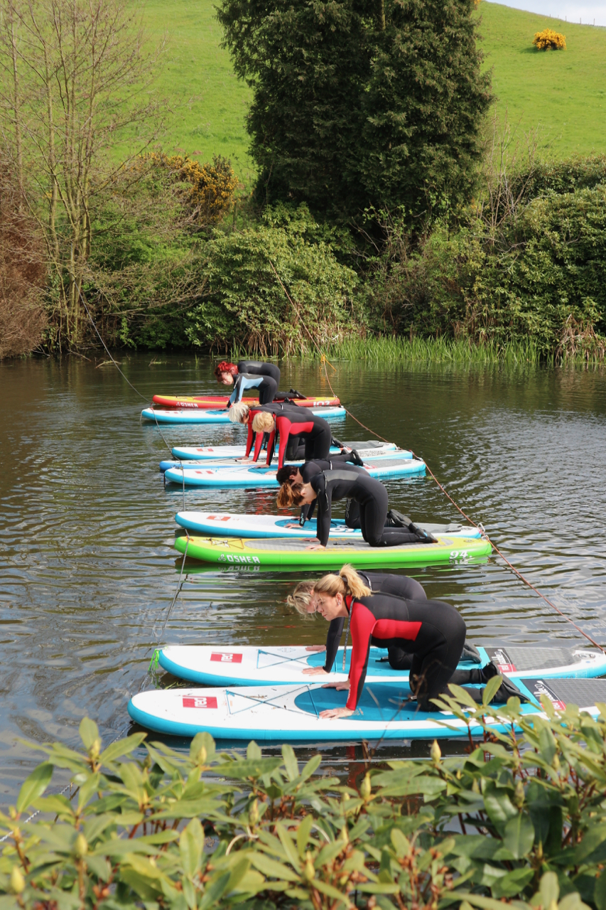 SUP Yoga retreat North Yorkshire at Raithwaite Estate