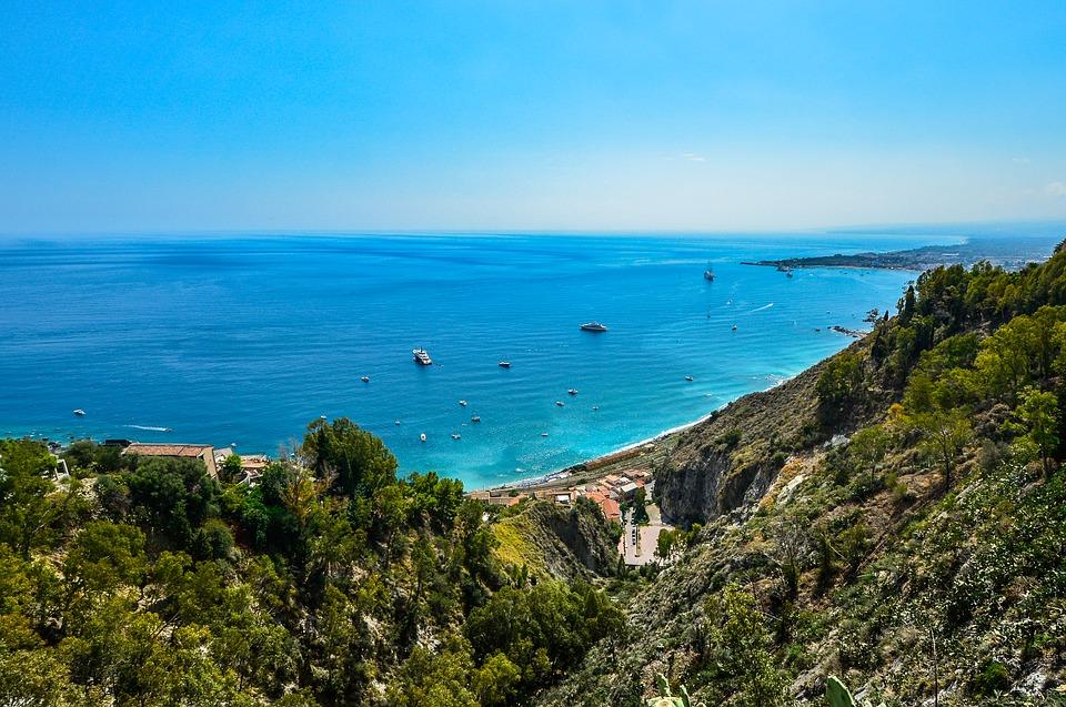 Sicily Travel Coastline Ships Coast Shore Italy