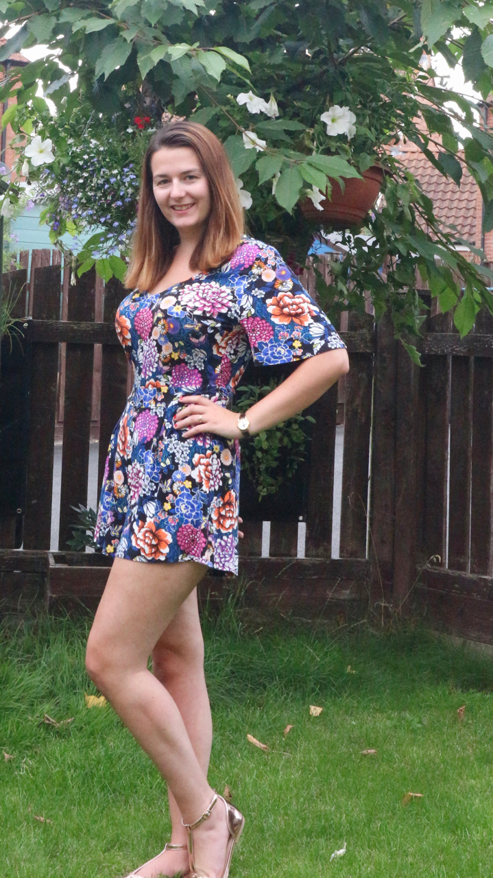 Tu at Sainsbury's jersey floral playsuit outfit
