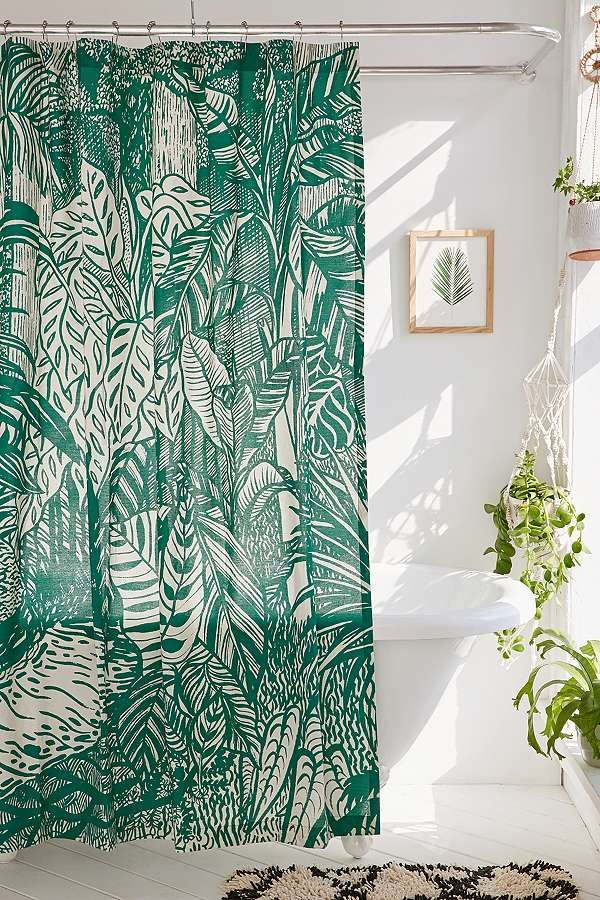 Urban Outfitters Tropical Palm Shower Curtain