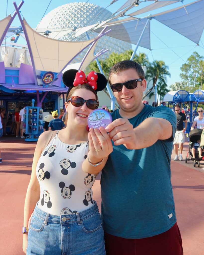 What to wear in Epcot - Mickey bodysuit & denim shorts