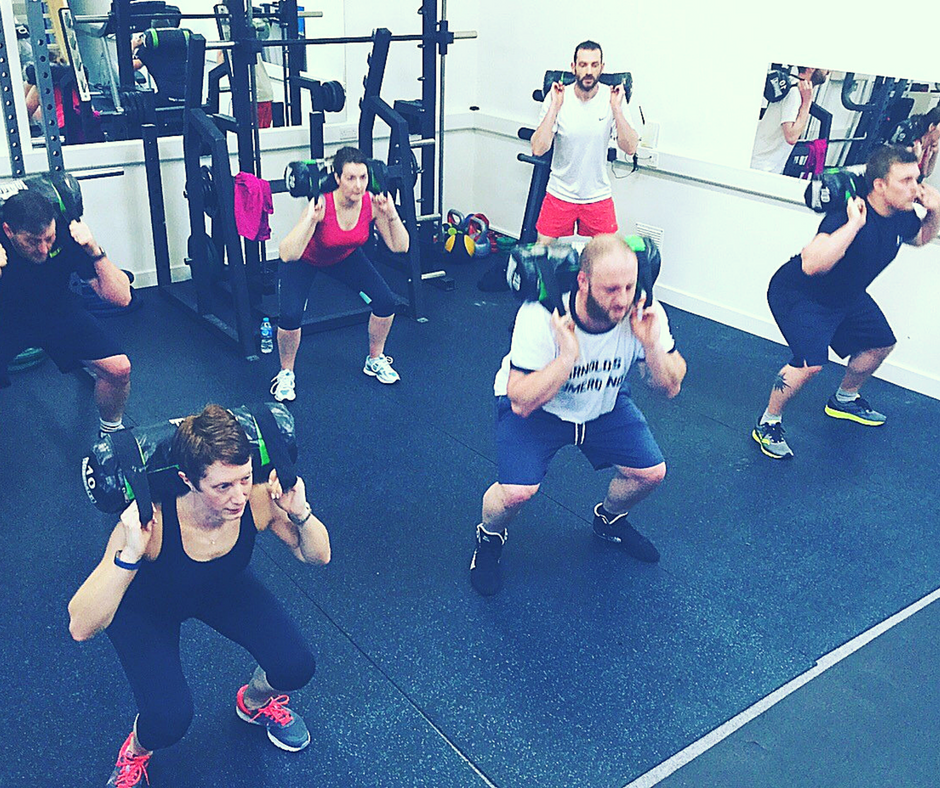Tough Mudder training - 10kg sandbag squats